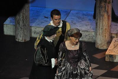 Pat O'Grady as Montague, Sean Murphy as Benvolio and Mary Ryan as Lady Montague