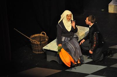 The Nurse (Hilary Madigan) with Romeo (Robert Hudson)