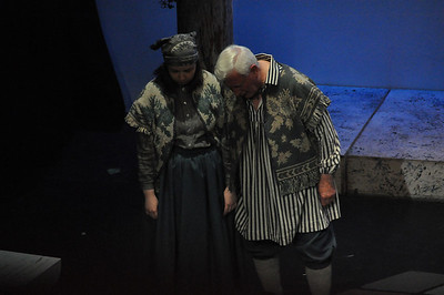 Fiona Walsh as Mopsa and Tony McGettigan as Peter in Romeo and Juliet in the Mill Theatre.