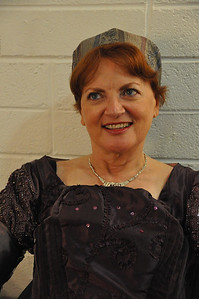 Mary Ryan before going on stage in the Mill Theatre to play Lady Montague in Romeo and Juliet
