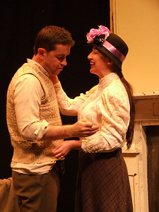 Robert Webster as 'Jack Clitheroe' and Aoife King as 'Nora Clitheroe'.