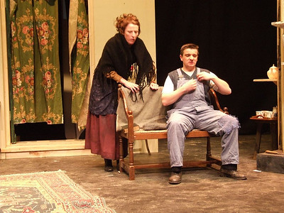 Oran O'Rua as 'The Covey' and Claire O'Donovan as Mrs. Gogan.