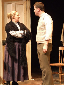 Fiona Buckley as 'Bessie Burgess' and Robert Webster as 'Jack Clitheroe'.