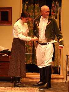 Aoife King as 'Nora Clitheroe' and Peter Flood as 'Peter'.