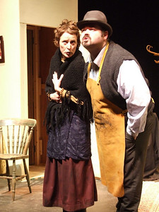 Claire O'Donovan as Mrs. Gogan and Dave Walsh as 'Fluther'.