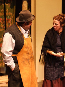 Dave Walsh as 'Fluther' and Claire O'Donovan as Mrs. Gogan.