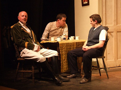 Peter Flood as 'Peter', Robert Webster as 'Jack Clitheroe' and Oran O'Rua as 'The Covey'.