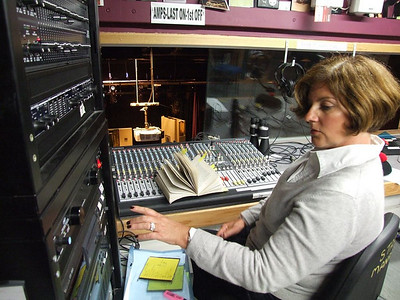 Hilary Madigan on sound in the Mill Theatre control room.