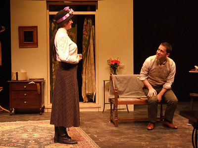 Aoife King as 'Nora Clitheroe' and Robert Webster as 'Jack Clitheroe'.