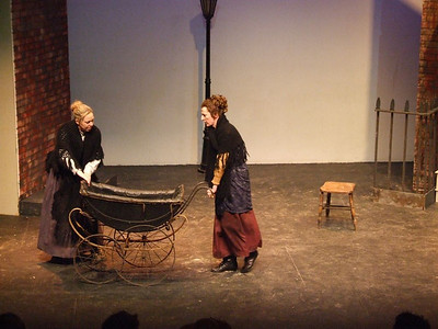 Fiona Buckley as 'Bessie Burgess' and Claire O'Donovan as Mrs. Gogan.