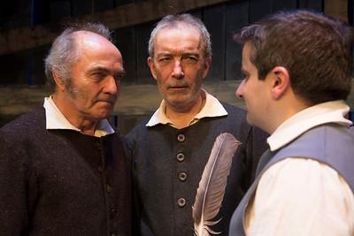 Steve Curran (Giles Corey), Pat O'Grady (Francis Nurse) and Óran O'Rua (Mr Cheever)