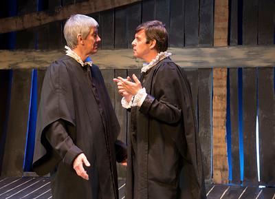 Michael Sharp (Judge Hathorne) and Declan Brennan (Deputy Governor Danforth)