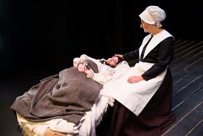 Aishling Ní Fhoghlú (Betty Parris) and Muriel Caslin-O'Hagan (Rebecca Nurse)