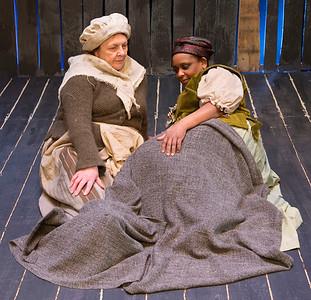 Doris Cullen (Sarah Good) and Eleanor Phiri (Tituba)