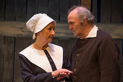Muriel Caslin-O'Hagan (Rebecca Nurse) and Steve Curran (Giles Corey)