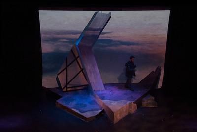 The set for 'Macbeth' designed by Gerard Bourke