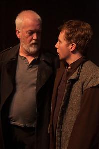 l-r Tom Ronayne (Banquo) and Kyle Hixon (Fleance)