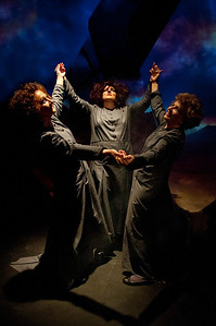 The Three Witches: l-r Muriel Caslin-O'Hagan, Hilary Madigan and Anne Mekitarian