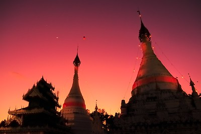 Twilight Time at Wat Phra That Doi Kong Mu
