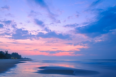 Sweet Sunrise Over The Sea at Rayong Beach