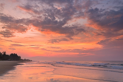 Stunning Sunrise Over The Sea at Rayong Beach