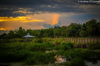 Sky Ablaze at Green Cay Wetlands III