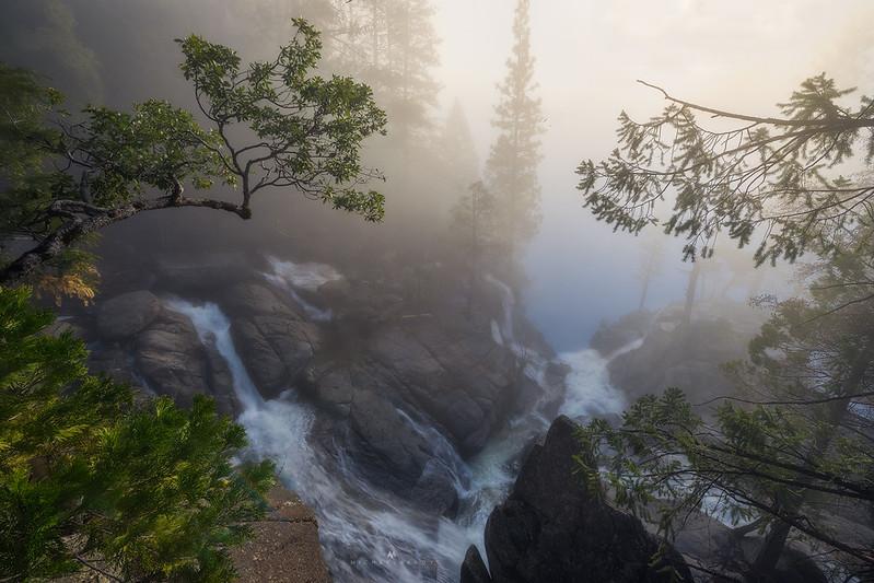 Cascade Falls in Fog