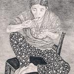 Kimchi Eating, Broken Chair (study)