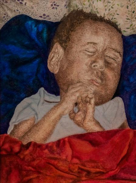 Yaqub Asleep with Hands Folded