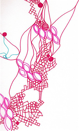 """Love"" (detail) 12"" x 12"" marker on paper  drawing by: Elizabeth Christopher © 2012"