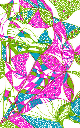 """Delight"" 5 7/8"" x 8 1/8"" marker on paper  drawing by: Elizabeth Christopher ©2012"