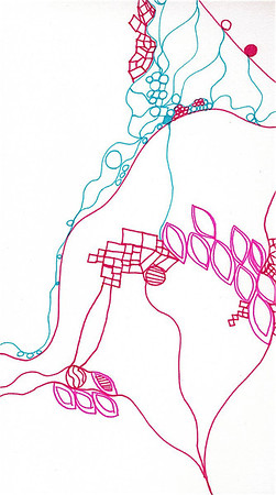 """Love"" (detail) 12"" x 12"" marker on paper  drawing by: Elizabeth Christopher ©2012"