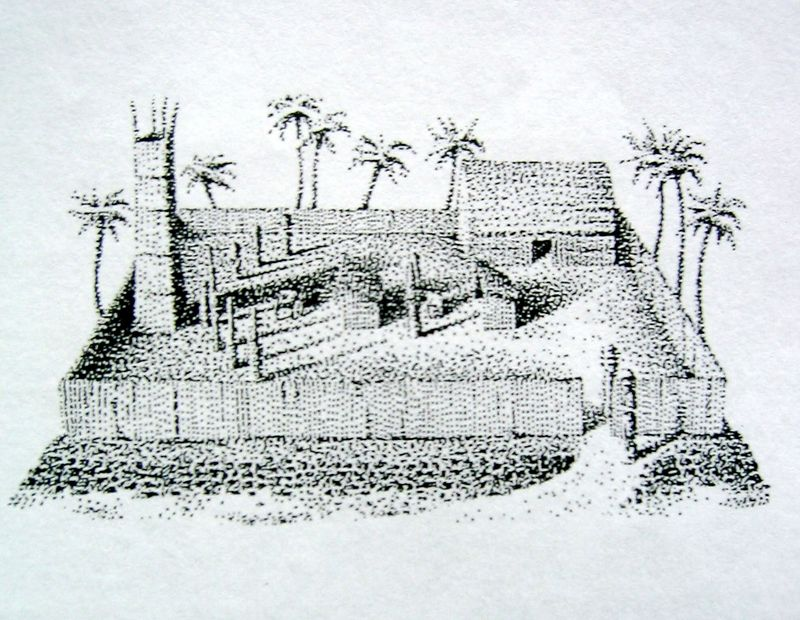 Heiau (pen & ink)