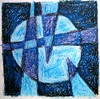 Circle & Cross # (oil pastel)