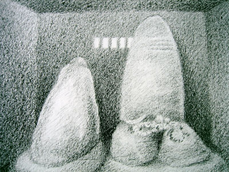 Pohaku Ho'ola Kino--Healing Stones (wax crayon)