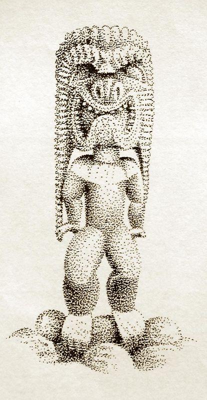 Ku Ki'i, Kona style,  (pen & ink)