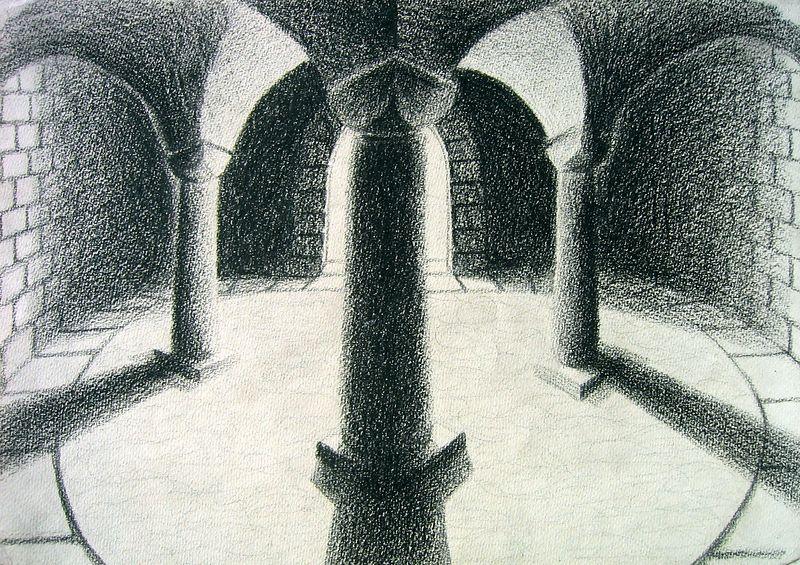 Interior series 4 (wax crayon)