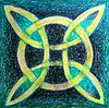 Celtic Circle and Cross (oil pastel)