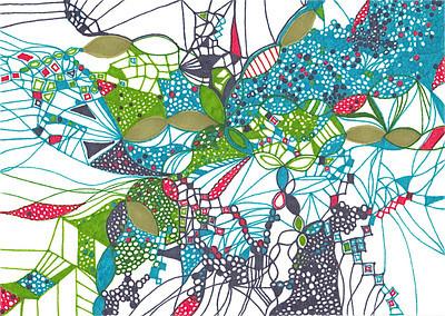 """Wander Flow"" 5 7/8"" x 8 1/8"" marker on paper  drawing by: Elizabeth Christopher ©2012"