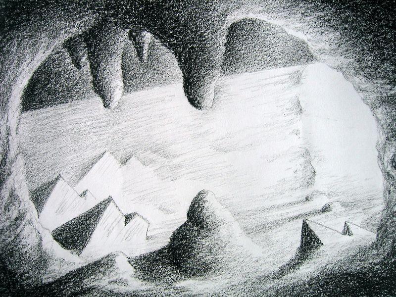 Interior series 1 (wax crayon)