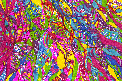 """Jubilee"" 8 1/8 "" x 5 7/8"" marker on paper  drawing by: Elizabeth Christopher © 2012"