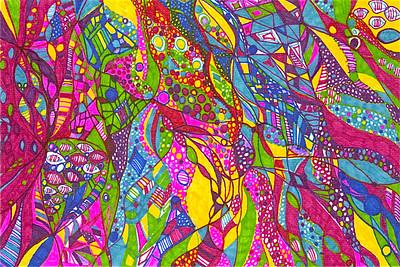 """Jubilee"" 8 1/8 "" x 5 7/8"" marker on paper  drawing by: Elizabeth Christopher © 2012"