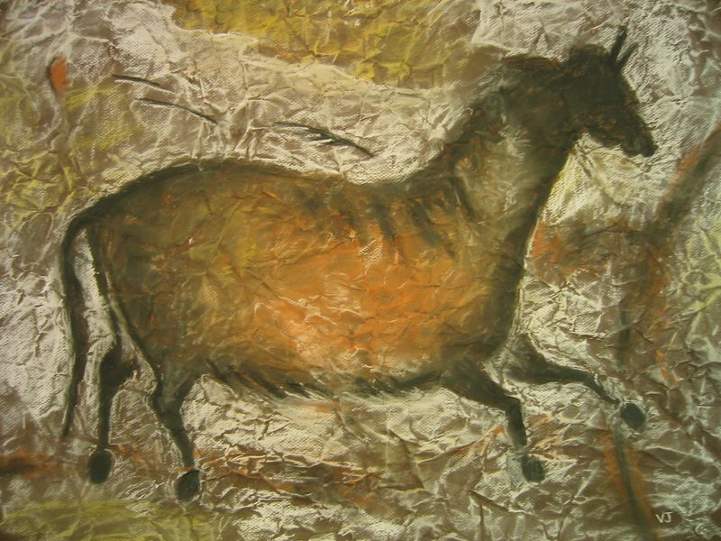 Palaeo-Horse (pastels on paper)