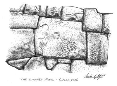 Twelve Angled Inca Stone - Calle Hatun Rumiyoc, Cusco, Peru