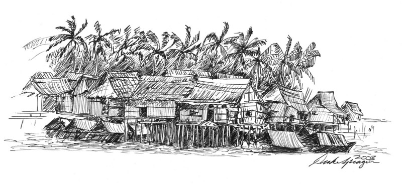 Southeast Asian Fishing Village