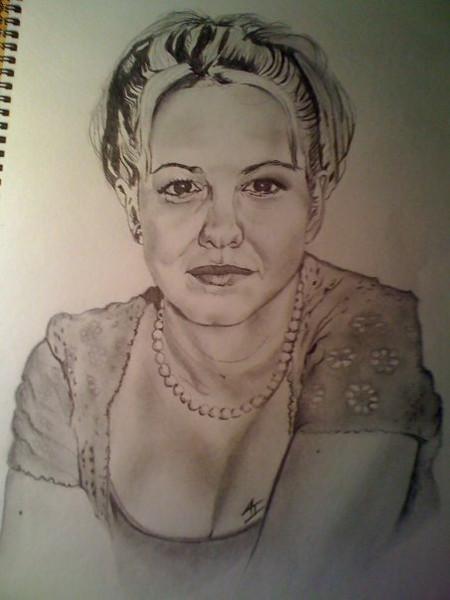 Larisa Oleynik drawing