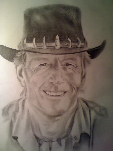 Paul Hogan as Mick Dundee in Crododile Dundee