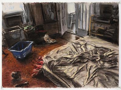 Bedroom; pastel, 22 x 30 in, 1987