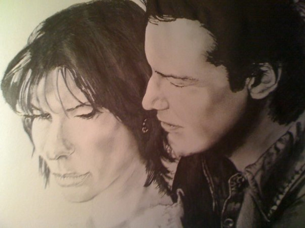 Sandra Bullock & Keanu Reeves Drawing