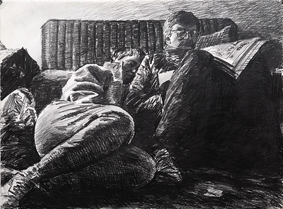 Cold house; graphite on paper, 22 x 30 in, 1988